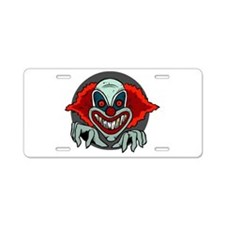 Evil Clown Aluminum License Plate