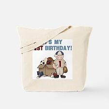 I Love Sports 1st Birthday Tote Bag