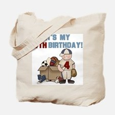 I Love Sports 4th Birthday Tote Bag