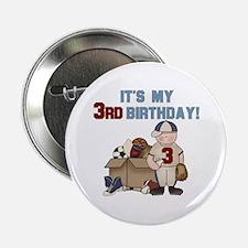 I Love Sports 3rd Birthday Button