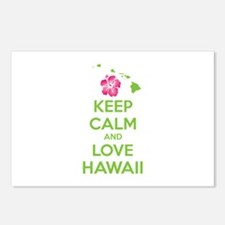 Keep calm and love Hawaii Postcards (Package of 8)