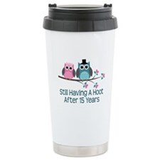 15th Anniversay Owls Travel Mug