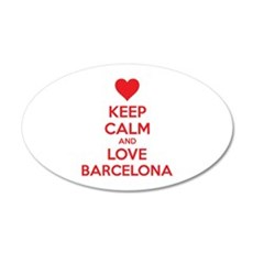 Keep calm and love Barcelona 38.5 x 24.5 Oval Wall