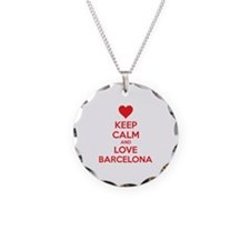 Keep calm and love Barcelona Necklace