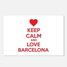Keep calm and love Barcelona Postcards (Package of
