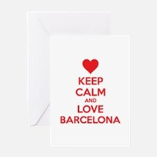 Keep calm and love Barcelona Greeting Card