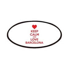 Keep calm and love Barcelona Patches
