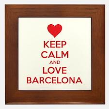Keep calm and love Barcelona Framed Tile