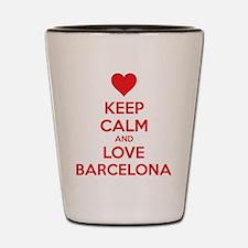 Keep calm and love Barcelona Shot Glass