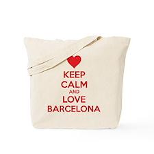 Keep calm and love Barcelona Tote Bag
