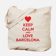 Keep calm and love Barcelona Tote Bag