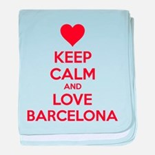 Keep calm and love Barcelona baby blanket