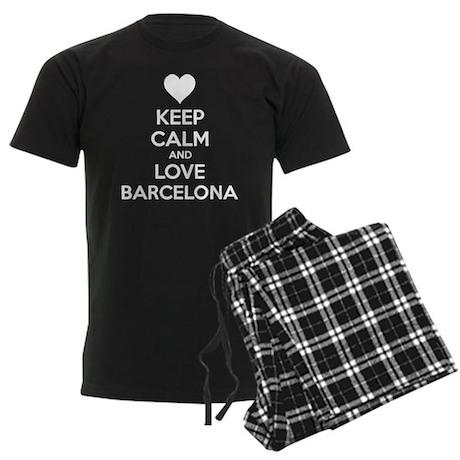 Keep calm and love Barcelona Men's Dark Pajamas