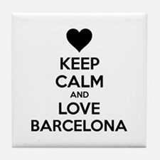 Keep calm and love Barcelona Tile Coaster