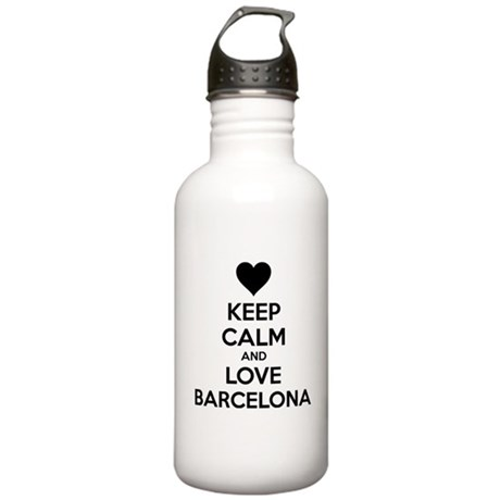 Keep calm and love Barcelona Stainless Water Bottl