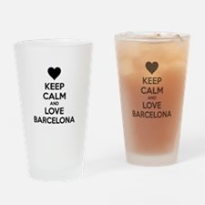 Keep calm and love Barcelona Drinking Glass