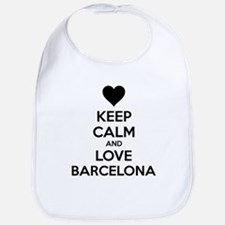 Keep calm and love Barcelona Bib