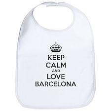 Keep calm and love Barcelona Bib