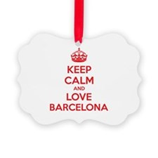 Keep calm and love Barcelona Ornament