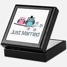 Just Married Owls Keepsake Box