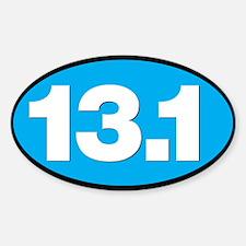 13.1 - Half Marathon - White on Blue Back Decal