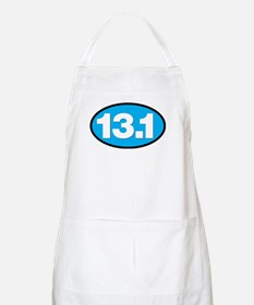 13.1 - Half Marathon - White on Blue Back Apron