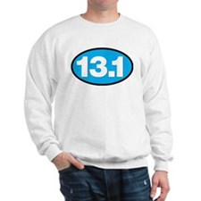 13.1 - Half Marathon - White on Blue Back Sweatshi