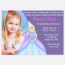 Princess Blond Birthday Invite Invitations