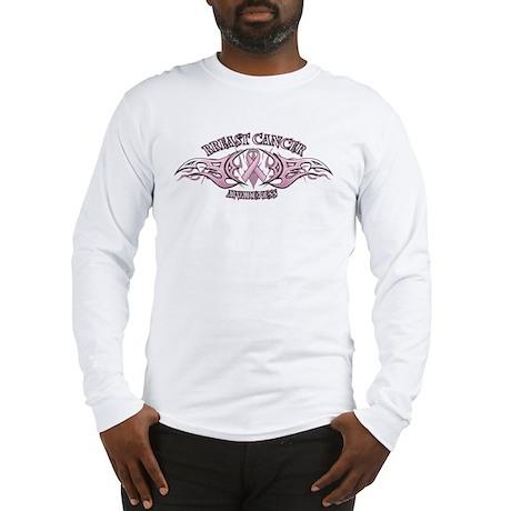 Breast Cancer Biker Long Sleeve T-Shirt
