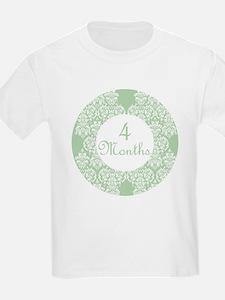 Damask Milestone 4 Months T-Shirt