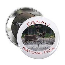 "Denali National Park...Caribou Walking 2.25"" Butto"