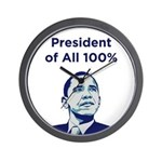 Obama: President of All 100% Wall Clock