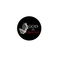 God is Pro-Life Mini Button (10 pack)