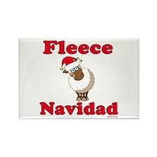 Fleece Navidad Rectangle Magnet
