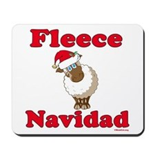Fleece Navidad Mousepad