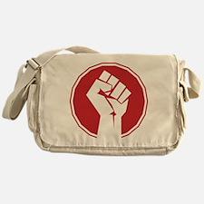 Vintage Retro Fist Design Messenger Bag