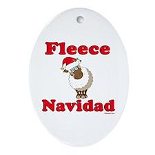 Fleece Navidad Ornament (Oval)