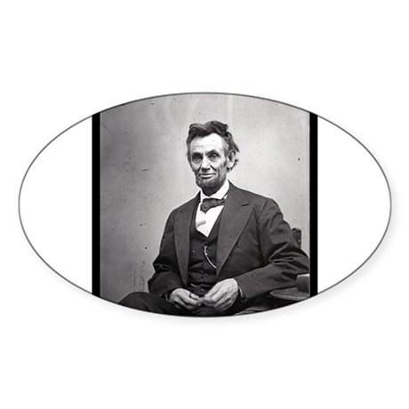 Abraham Lincoln Sticker (Oval 10 pk)