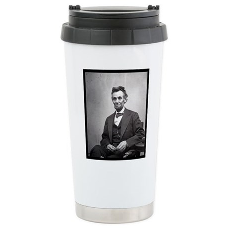 Abraham Lincoln Stainless Steel Travel Mug