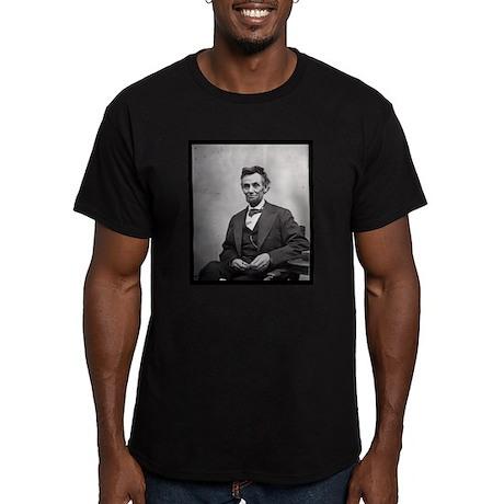 Abraham Lincoln Men's Fitted T-Shirt (dark)