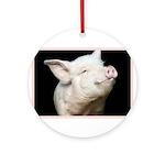 Cutest Pig Ornament (Round)