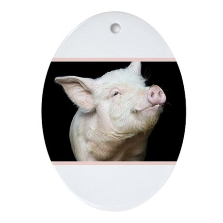 Cutest Pig Ornament (Oval)