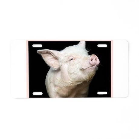 Cutest Pig Aluminum License Plate