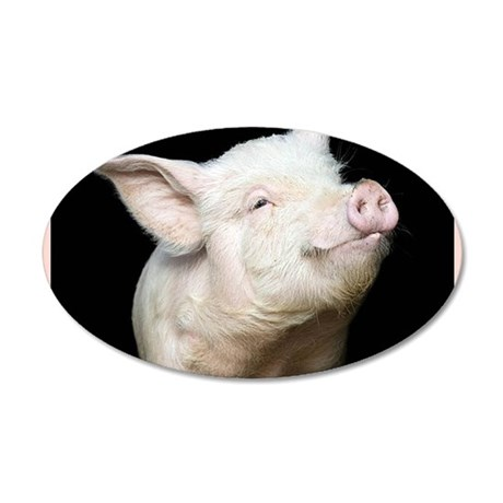Cutest Pig 20x12 Oval Wall Decal