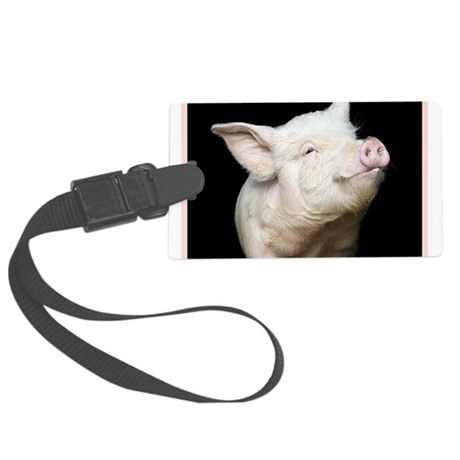 Cutest Pig Large Luggage Tag
