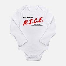 Say No To Rice Long Sleeve Infant Bodysuit