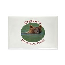 Denali National Park...Grizzly Bear Rectangle Magn