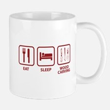 Eat Sleep Wood Carving Mug