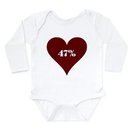 47% Hot Love Long Sleeve Infant Bodysuit