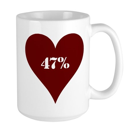 47% Hot Love Large Mug